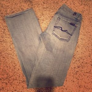 7 for All Mankind light jeans